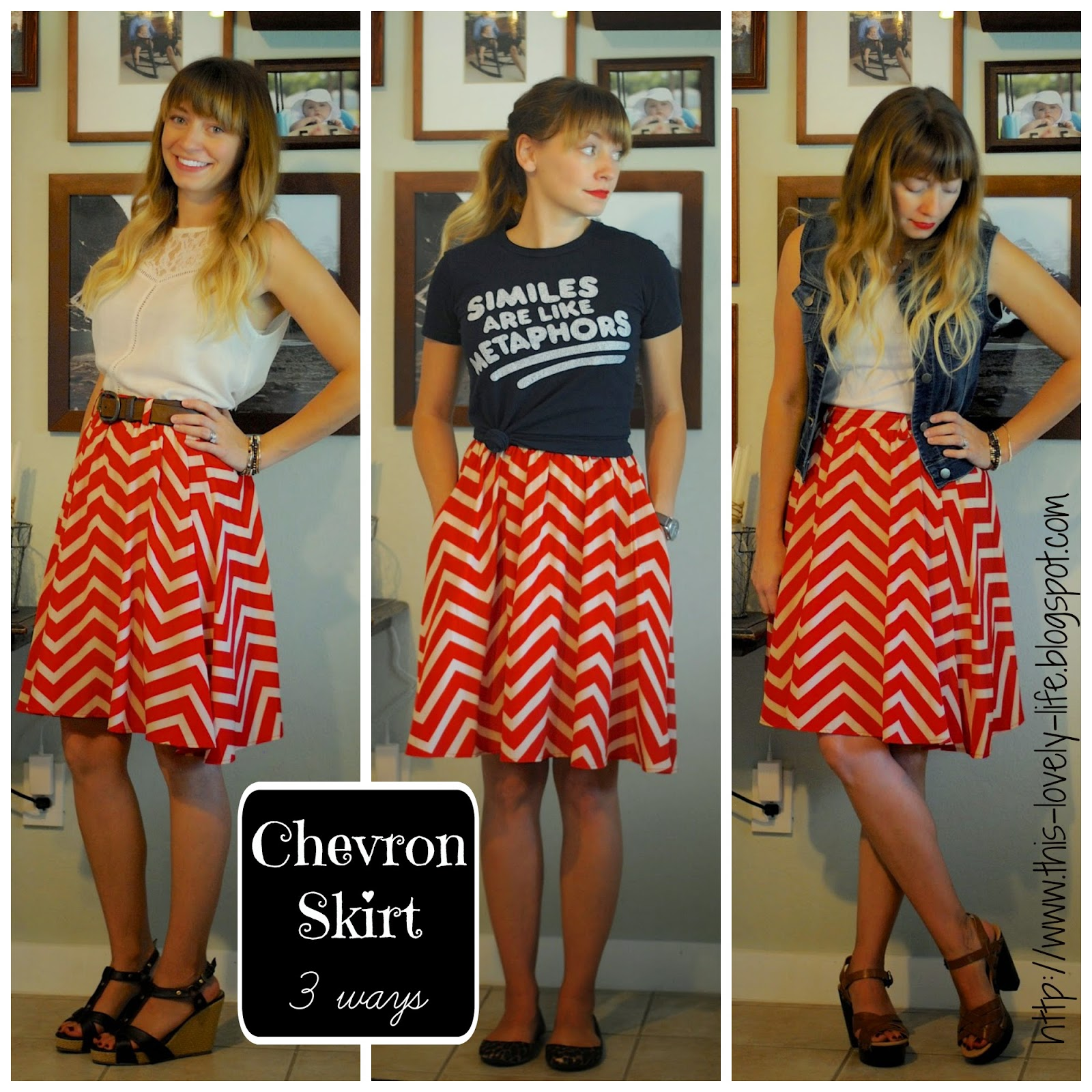 Chevron skirt styling