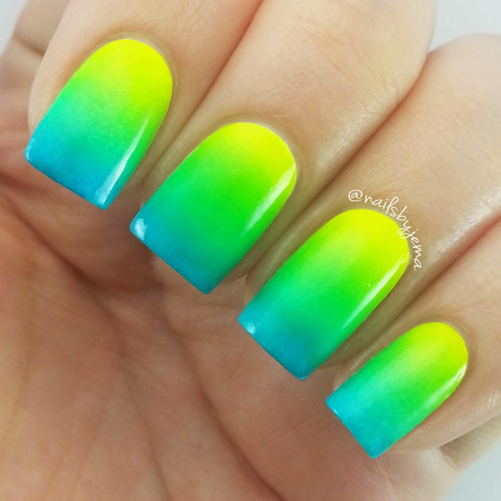 N A I L S B Y J E M A: Neon Gradient Nails