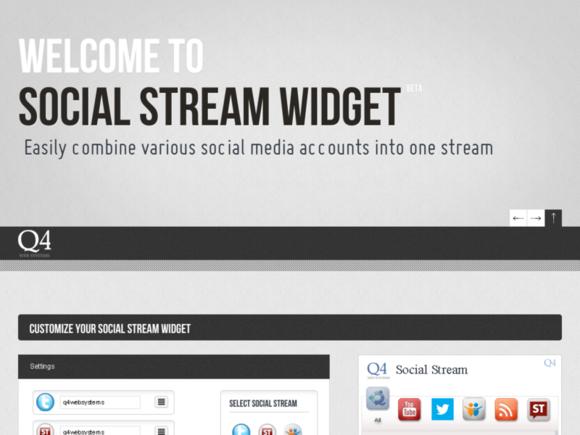Publica tus feeds con Social Stream Widget