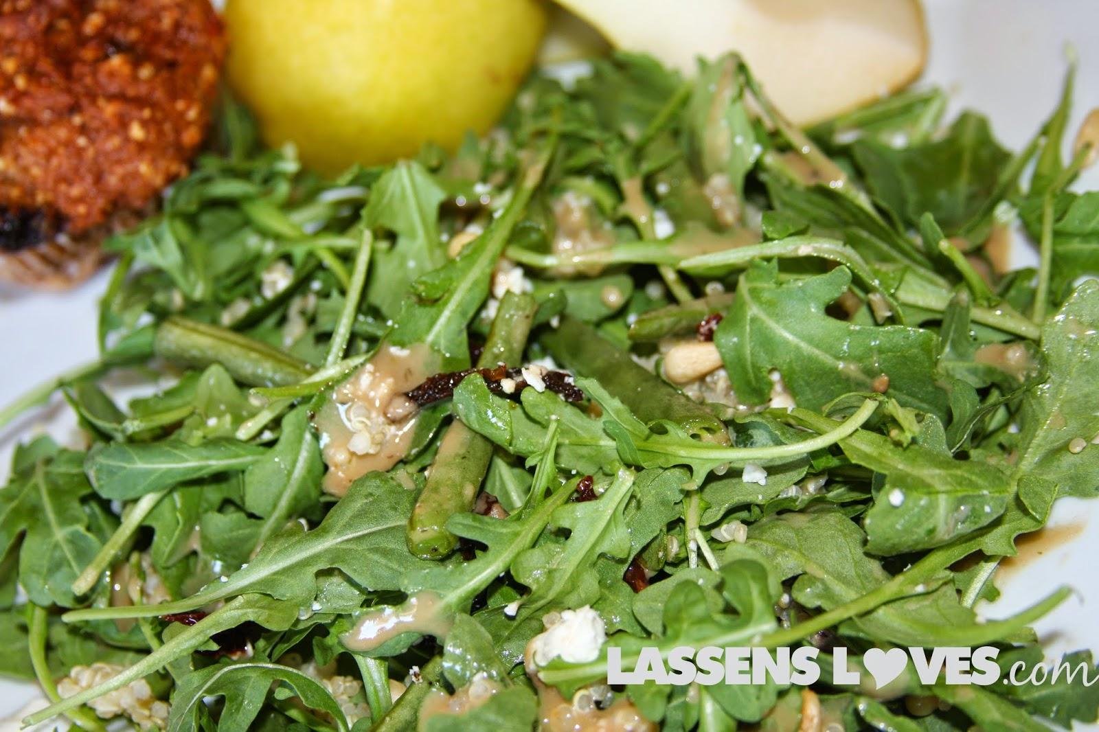 Drews+Dressing, Lemon+Goddess, arugula+salad, asparagus+salad, quinoa+salad