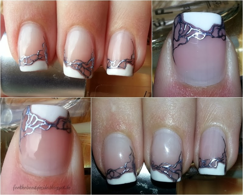 nageldesign mit weißem french - French Nails Nageldesign Bilder