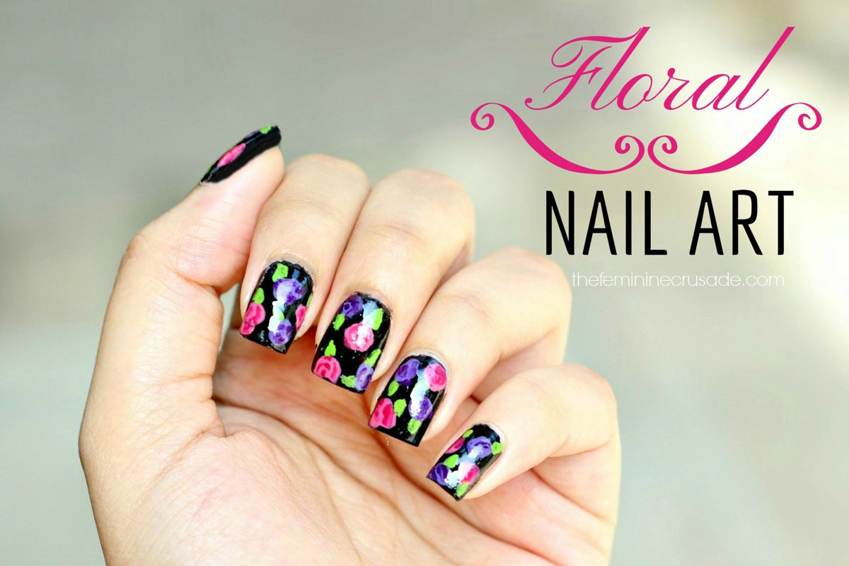 The feminine crusade beauty blog makeup reviews tutorials floral nail art prinsesfo Image collections