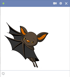 Bat Emoticon for Facebook