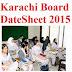 BSEK Karachi Board 9th Class Date Sheet 2016 SSC Part 1 & 2