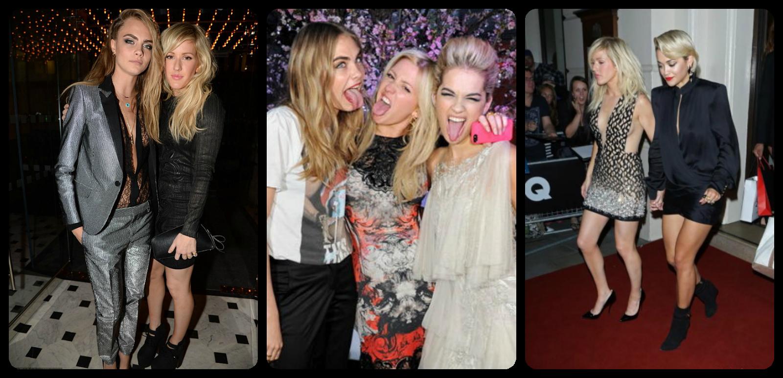 Ellie Goulding, Cara Delevigne, Rita Ora BFF