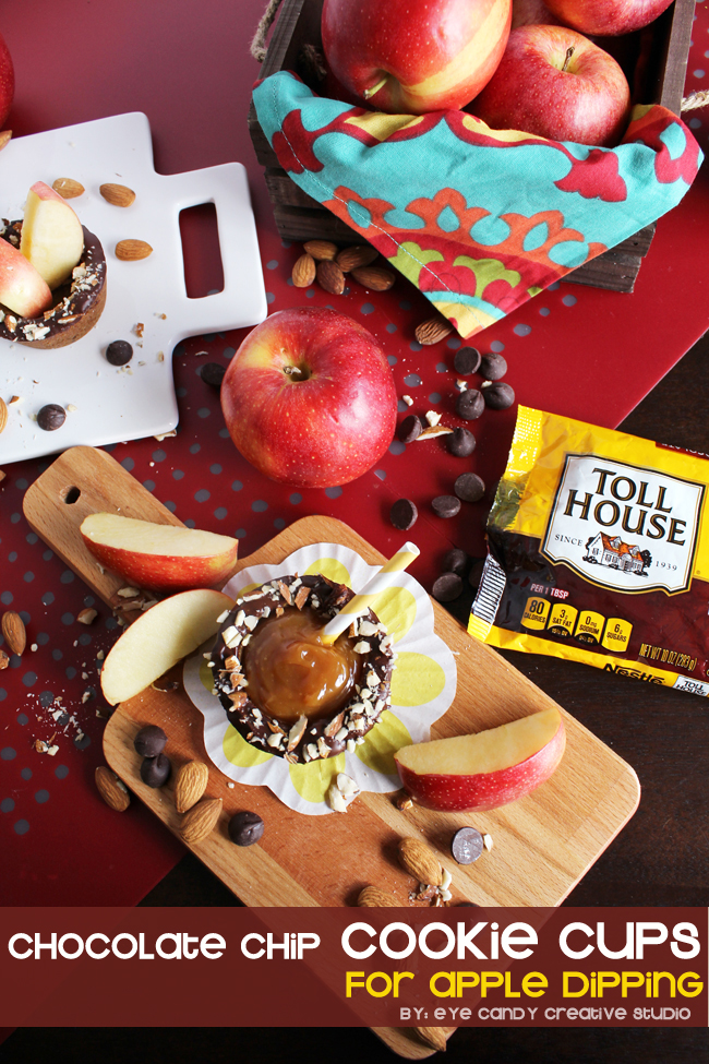 nestle toll house recipe for cookie cups, apple dipping, falliday faves
