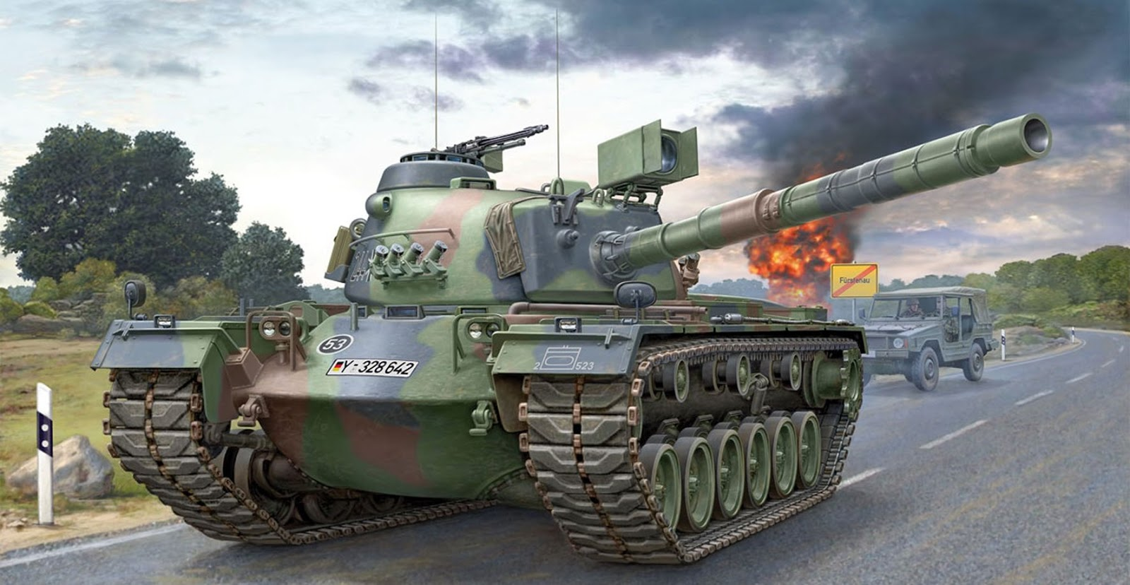 M Bel the modelling review build revell s tool m48 a2ga2 patton in 35th scale