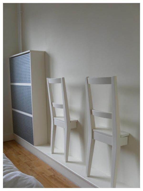 La neurona del manitas recicla una silla como gal n de noche - Ikea galan de noche ...