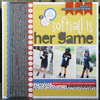 Bella Blvd, Bella Boulevard, Making The Team, softball, scrapbooking, Laura Vegas, layout