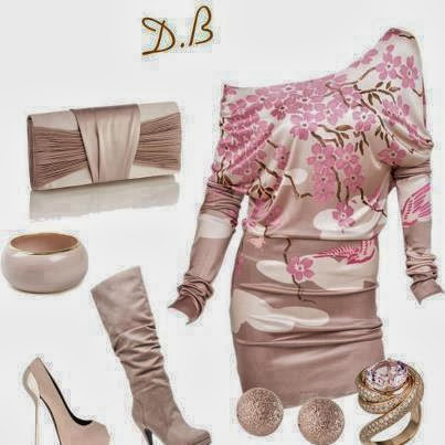Ladies outfits in light Color with flowering style