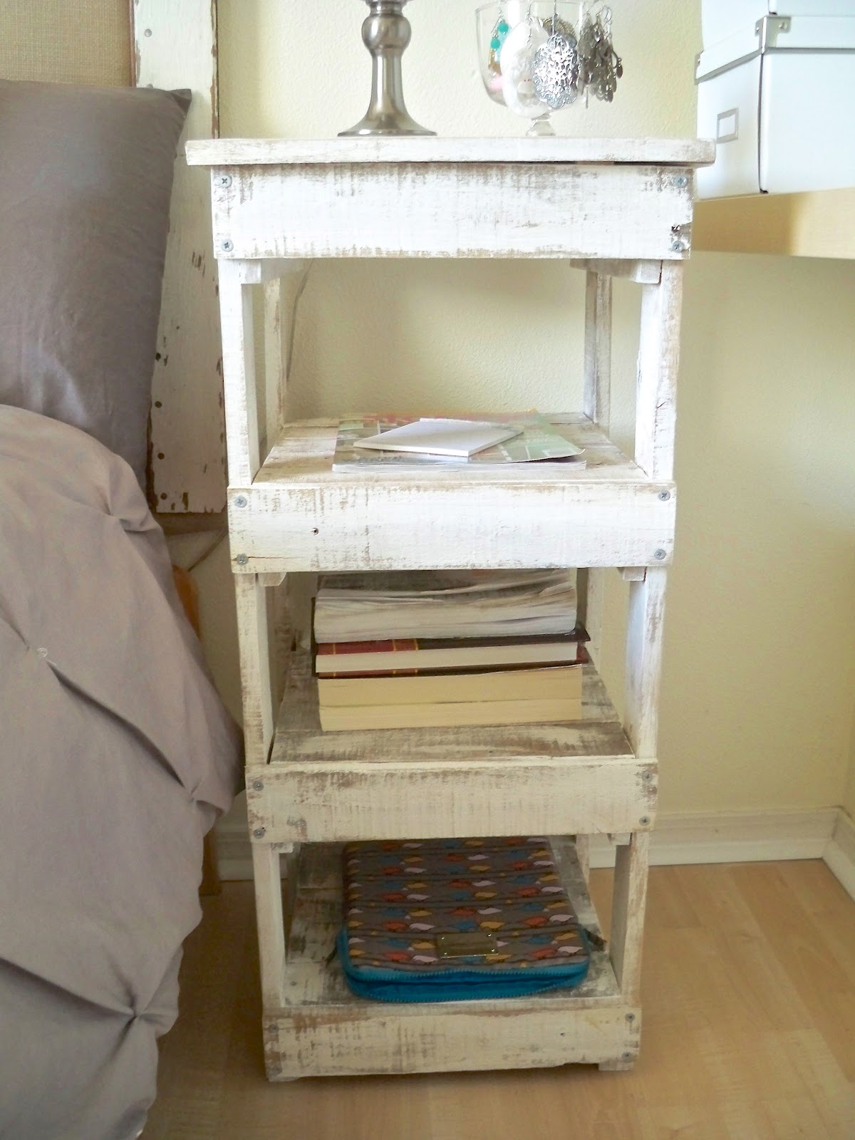 Be sweetly inspired diy nightstand from old wood a free for Diy crate nightstand