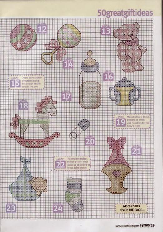 Conosciuto Hobby lavori femminili - ricamo - uncinetto - maglia: Schemi Mini  PF04