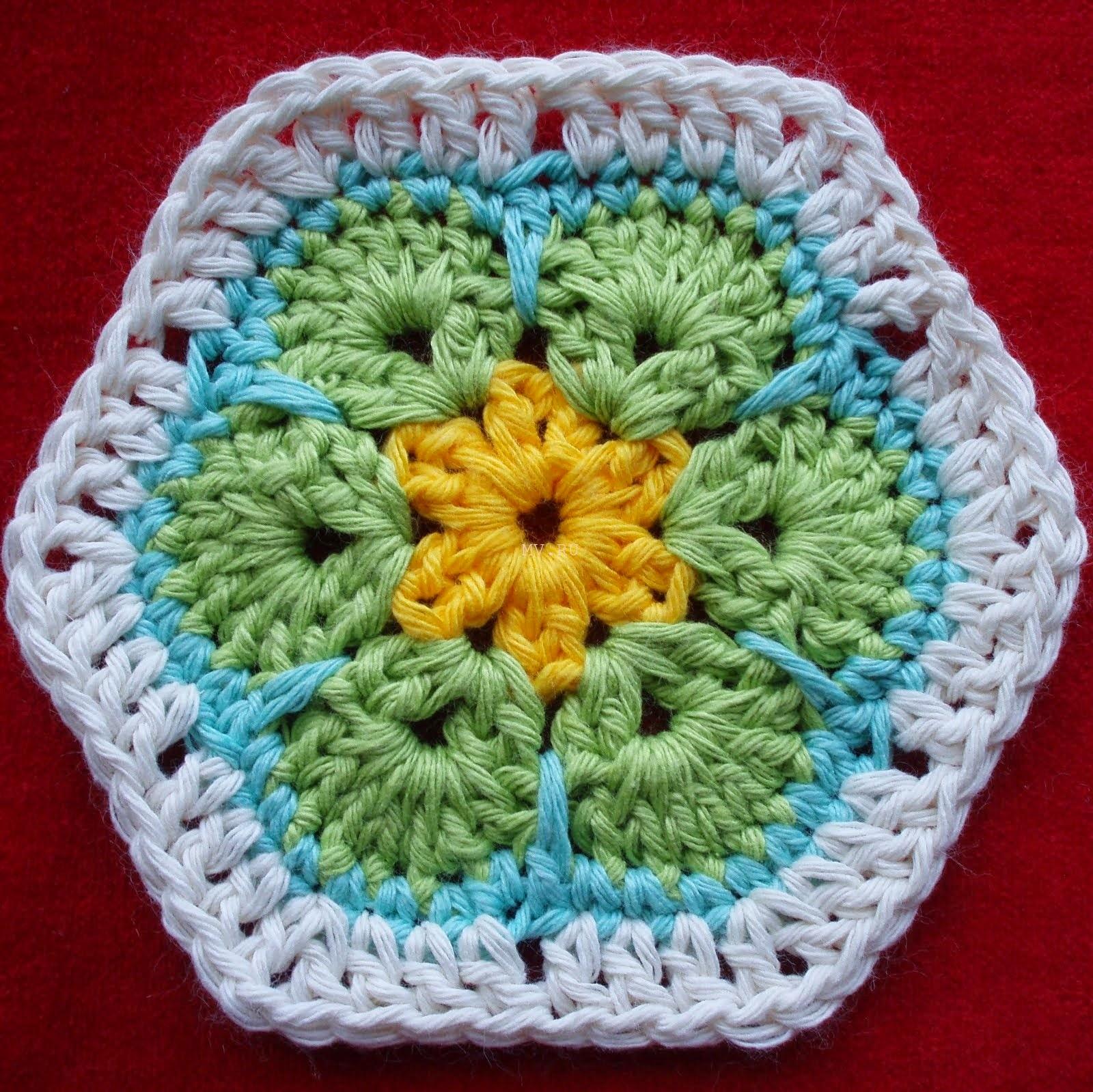 Crochet African Flower Pattern Free : Crochet: Crochet rug. African flower pattern.