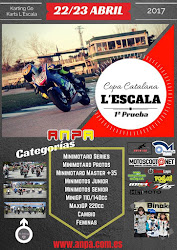 Próxima carrera: 22/23 Abril 2017 Karting L'Escala