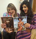 Famosos entram na onda criada por Luan Santana e fazem caretas ao ver Playboy de Ivi Pizzott