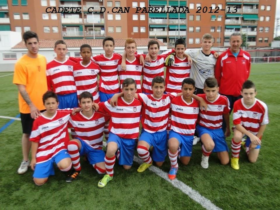 CADETE  C.D.CAN PARELLADA 2012-13