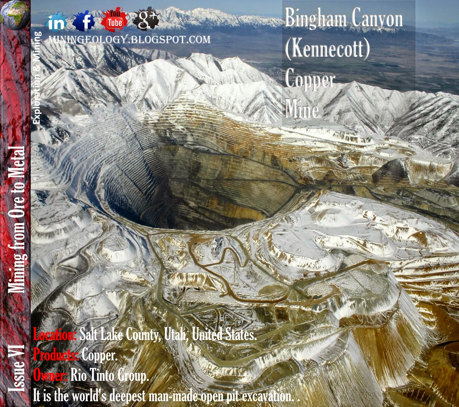 Bingham Canyon (Kennecott) Copper Mine