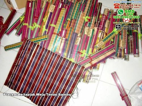 Placematetaplak Meja Tenun Bambu Bambu Lidi Surabaya