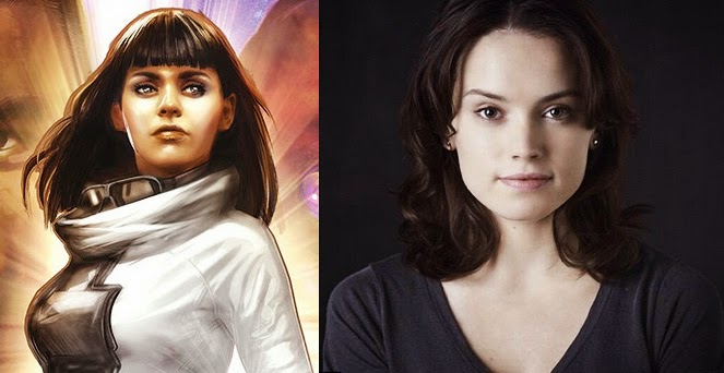 Ania Solo and Daisy Ridley Star Wars 7