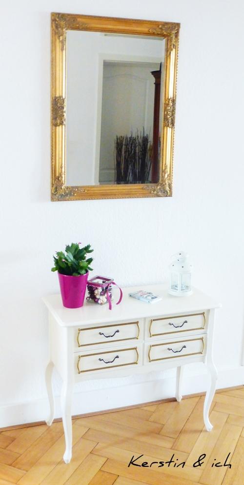 Möbel Kommode Chippendale Spiegel gold