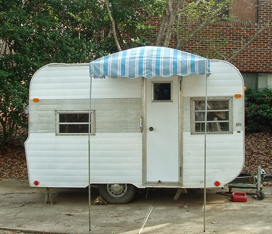 Vintage Awnings Pictures Of Vintage Trailer Awnings With Shock Poles For Lift