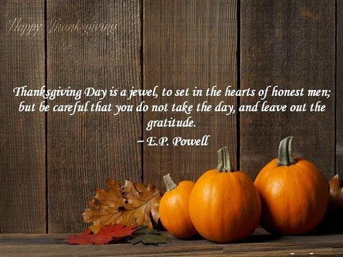Best Famous Thanksgiving Quotes