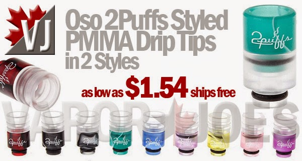 Oso 2Puffs Styled PMMA Drip Tips in 2 Styles