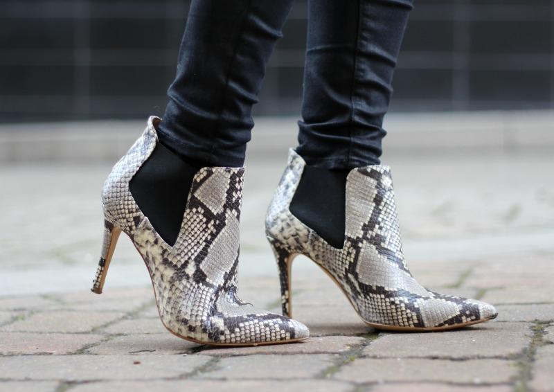 daniel footwear snake skin print boots