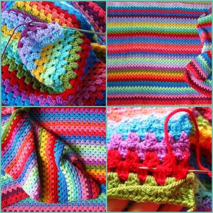 Вязание разноцветных тапочек из остатков пряжи