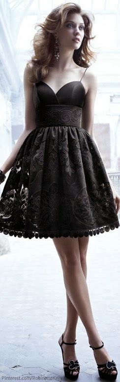Fascinating black night dress