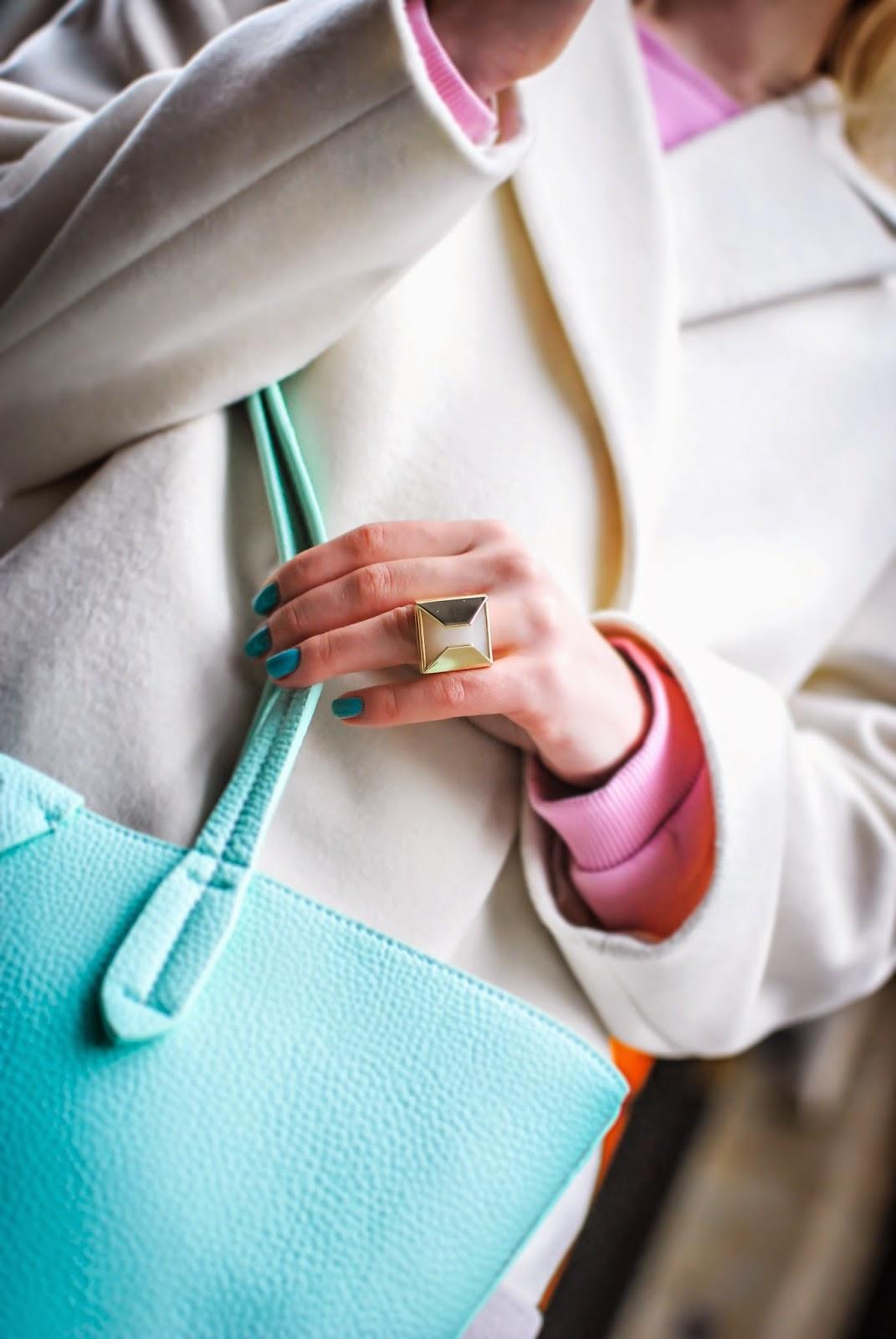 streetstyle, pastel coat, irina pavlova