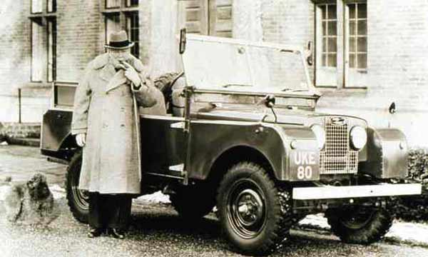 Winston Churchill, Churchill Land Rover, vintage car auction, Winston Churchill's Land Rover sells for £129,000