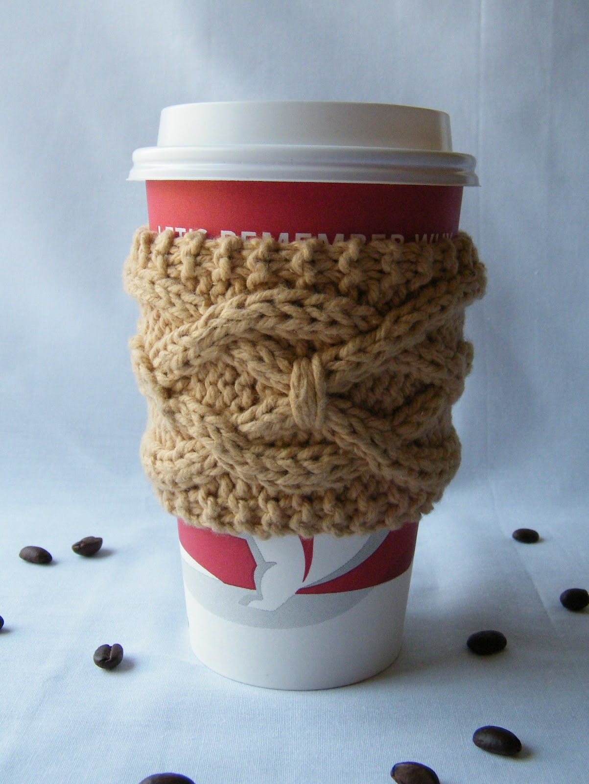 Free Knitting Pattern Coffee Cup Sleeve : Lewis Knits: June 2012