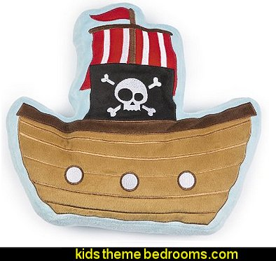 Pirate Ship Pillow pirate bedroom decorations