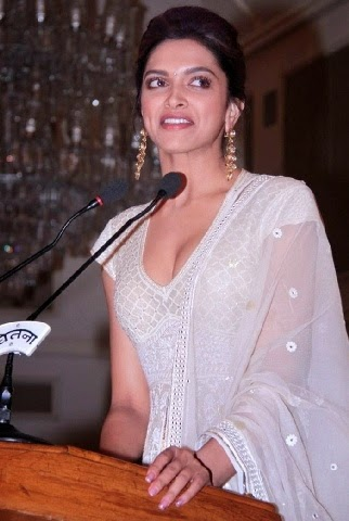 Deepika Padukone Exposing Her Round extreme big huge boobs cleavage