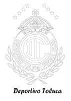DEPORTIVO TOLUCA PARA COLOREAR
