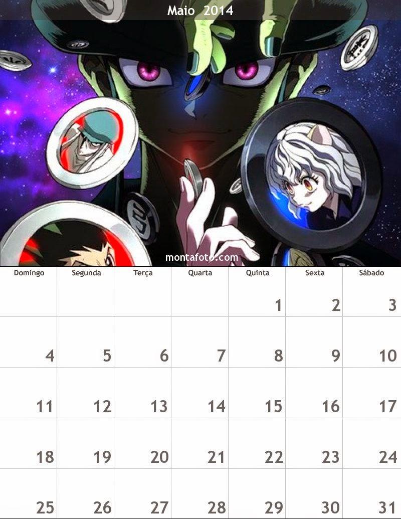 calendario de maio 2014