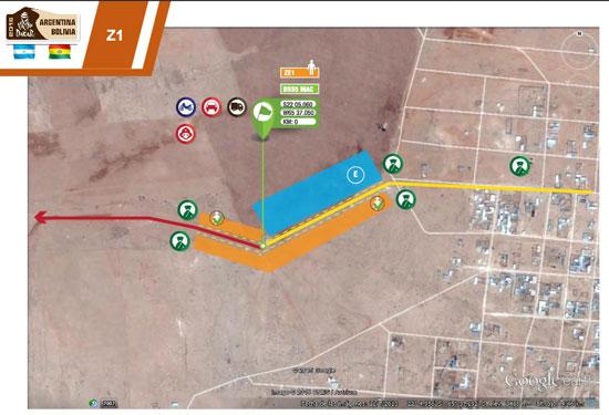 Zona de espectadores Dakar 2016 ingreso a Villazón Bolivia