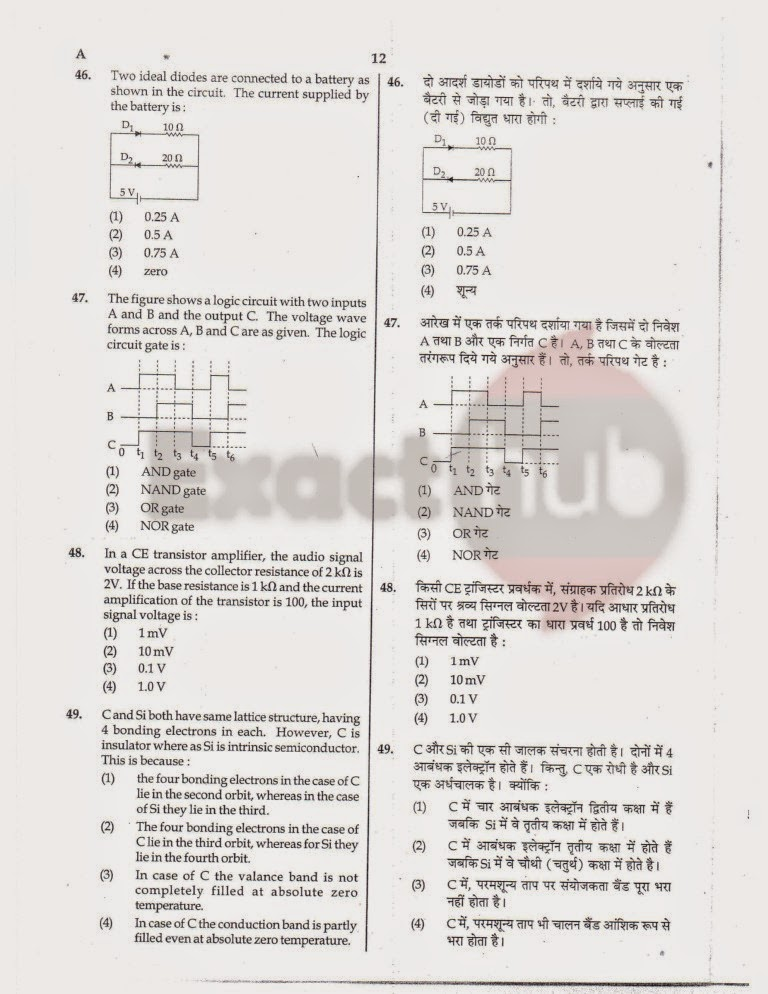 AIPMT 2012 Exam Question Paper Page 12