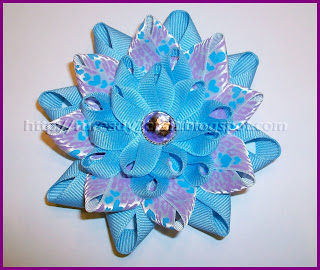 Gardenia Crown Flower Bow Craft for the hair