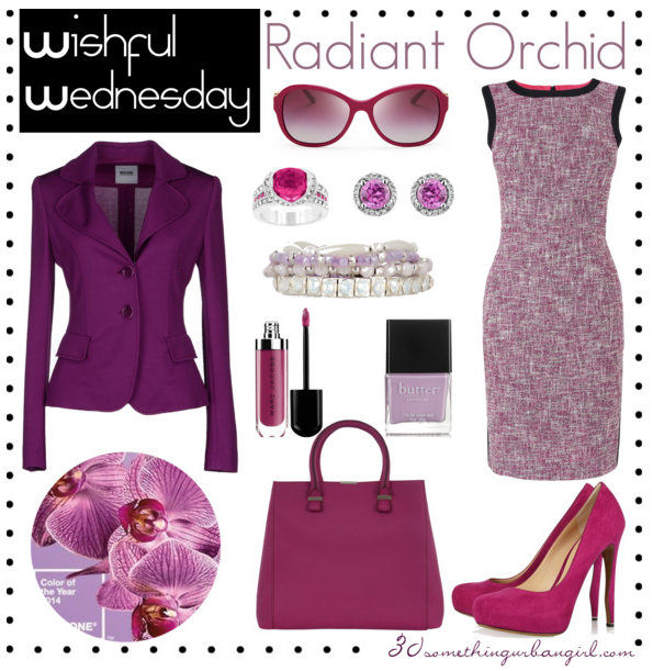 pretty Pantone Radiant Orchid work wear outfit idea