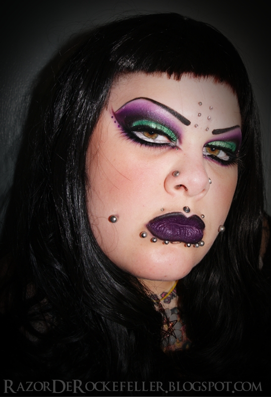 Purple Witch Eye Makeup Witch's brew makeup look!