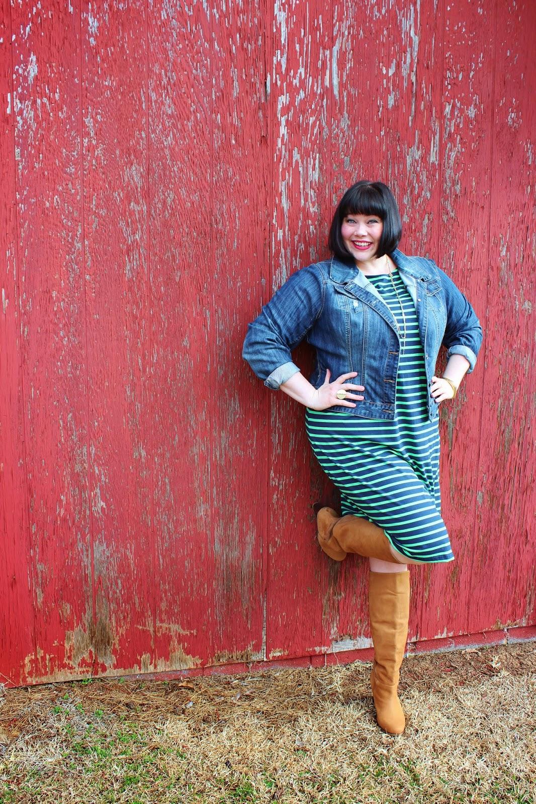 Spring Staples Jessica London Classic Boatneck Tshirt Dress