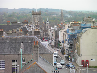 view of dorchester from castle museum roof