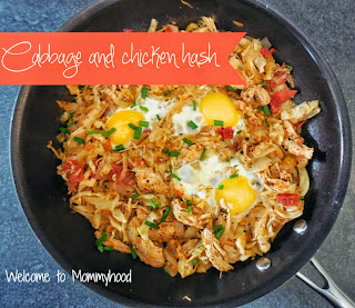 Healthy cabbage recipes: cabbage breakfast hash by Welcome to Mommyhood