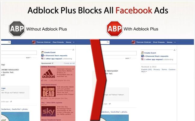 Adblock no Facebook - Fonte/Reprodução: Adblock