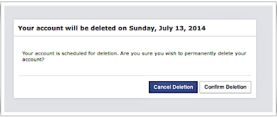 choose delete or no your account
