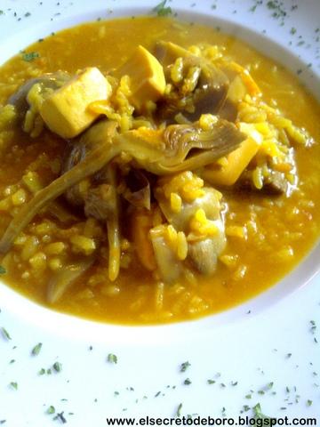 El secreto de boro arroz con alcachofas y sepia - Arroz con alcachofas y jamon ...