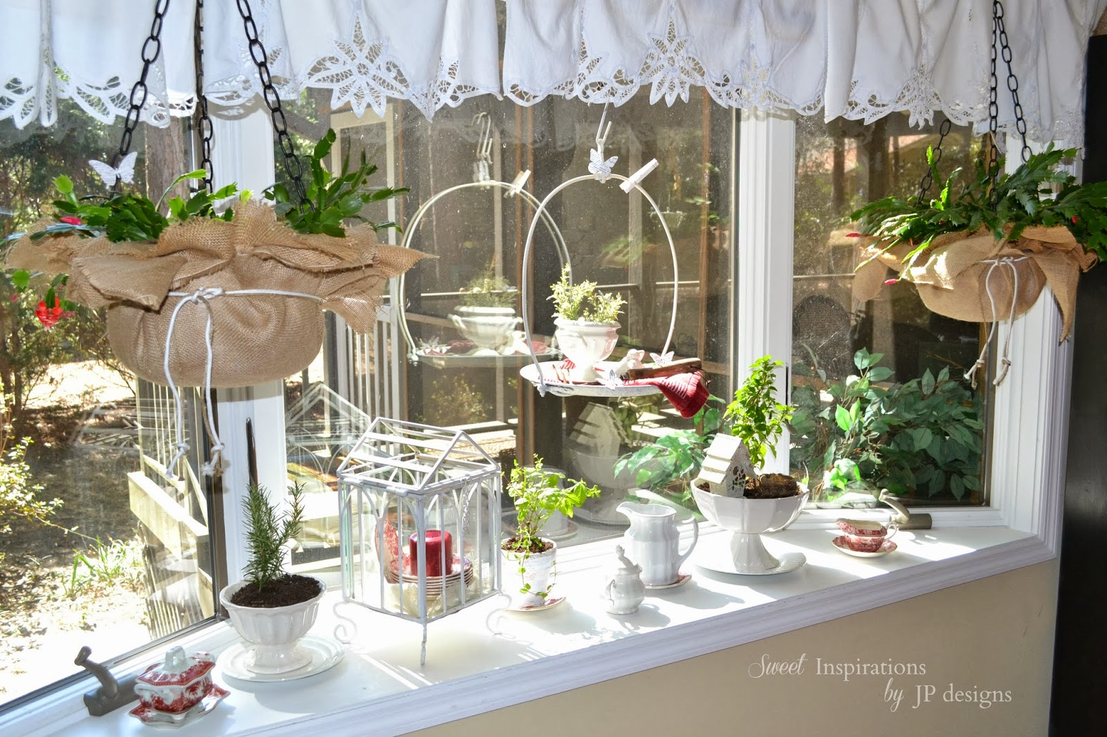 Merveilleux Herbs, White Ironstone And Some Vintage Transferware, Along With A Few Cast  Iron Pieces Merged Together Created Our Kitchenu0027s Indoor Garden Display.