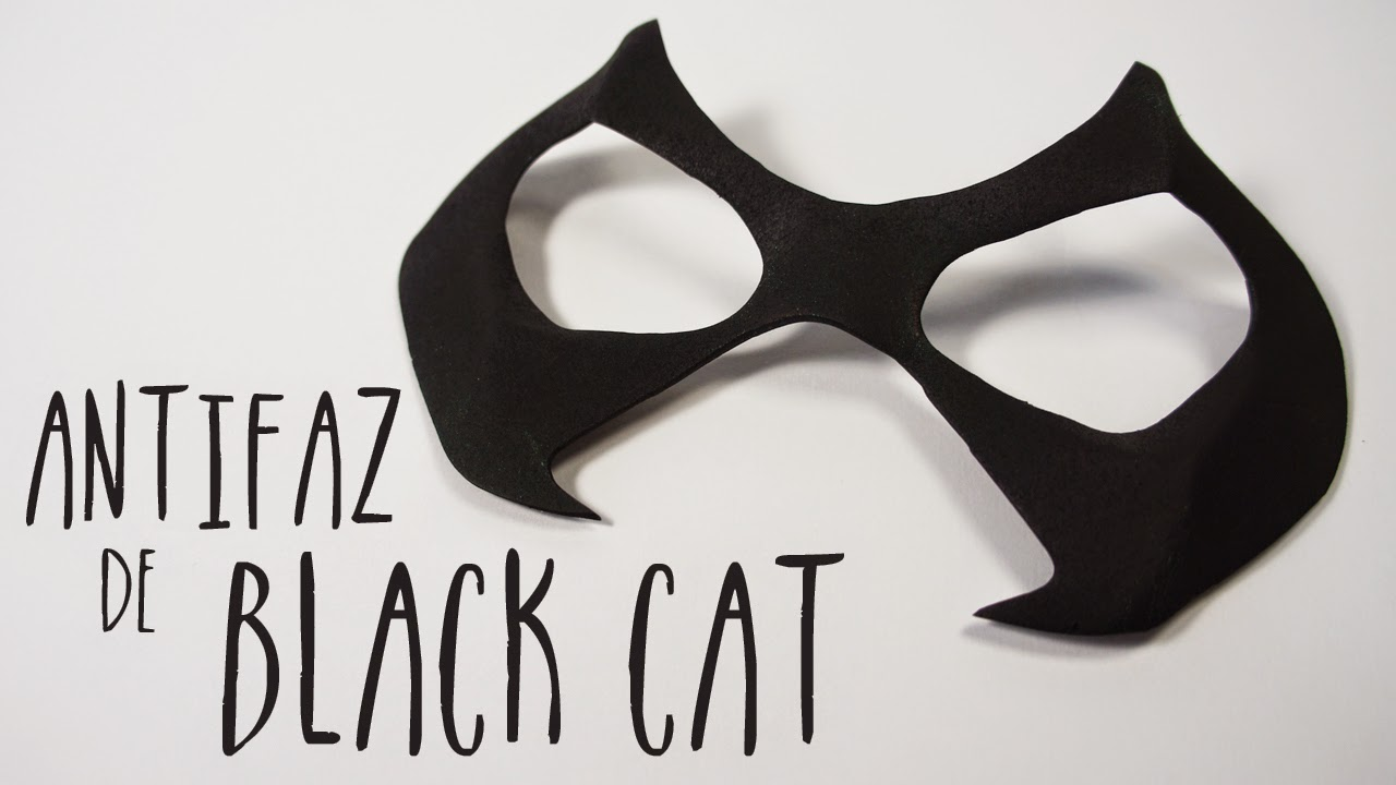Fieltropiezos diy: Cómo hacer la máscara de Black Cat (la Gata Negra ...